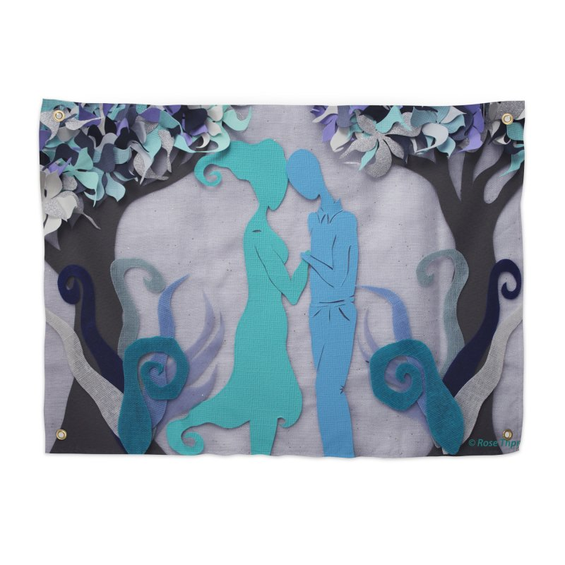 Winter Kiss 3 Home Tapestry by MagpieAtMidnight's Artist Shop