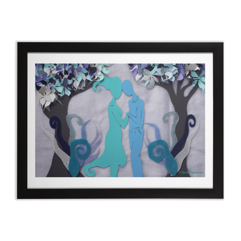 Winter Kiss 3 Home Framed Fine Art Print by MagpieAtMidnight's Artist Shop