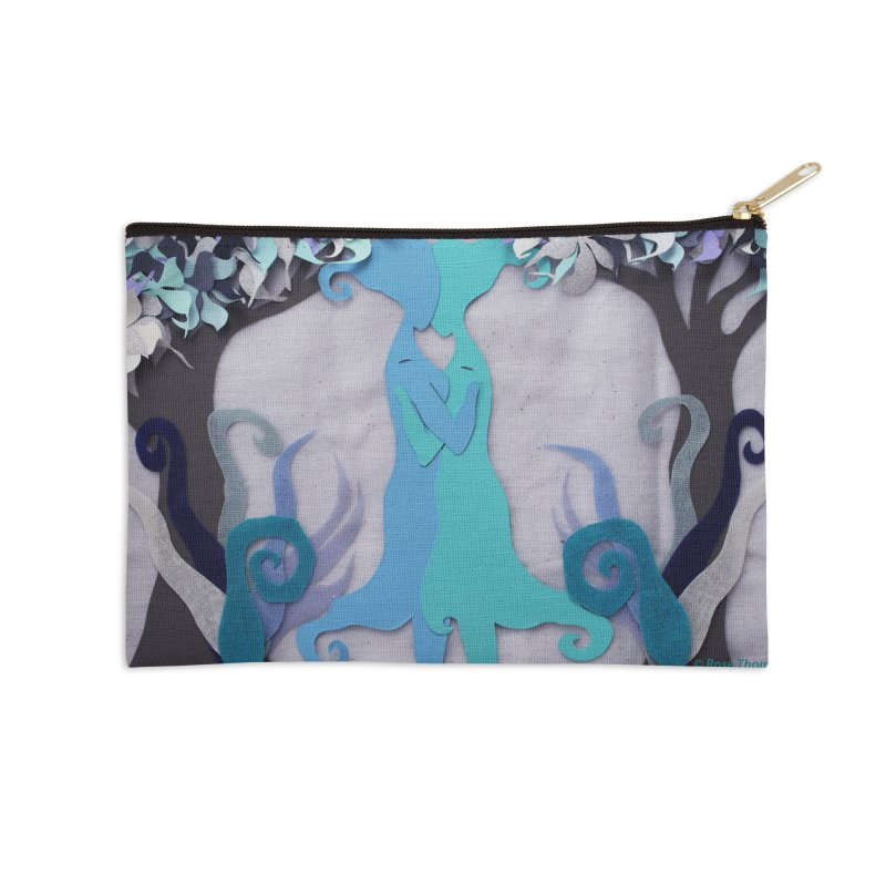 Winter Kiss 2 Accessories Zip Pouch by MagpieAtMidnight's Artist Shop