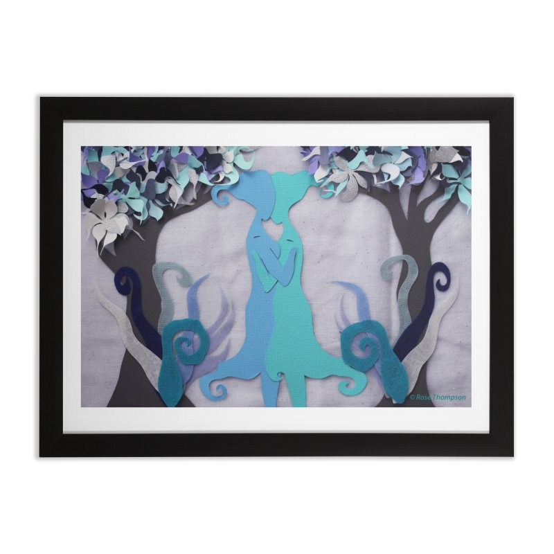 Winter Kiss 2 Home Framed Fine Art Print by MagpieAtMidnight's Artist Shop