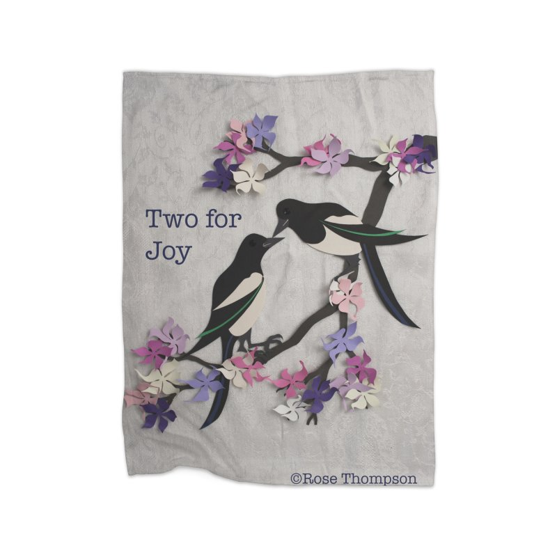 Two for Joy Home Blanket by MagpieAtMidnight's Artist Shop