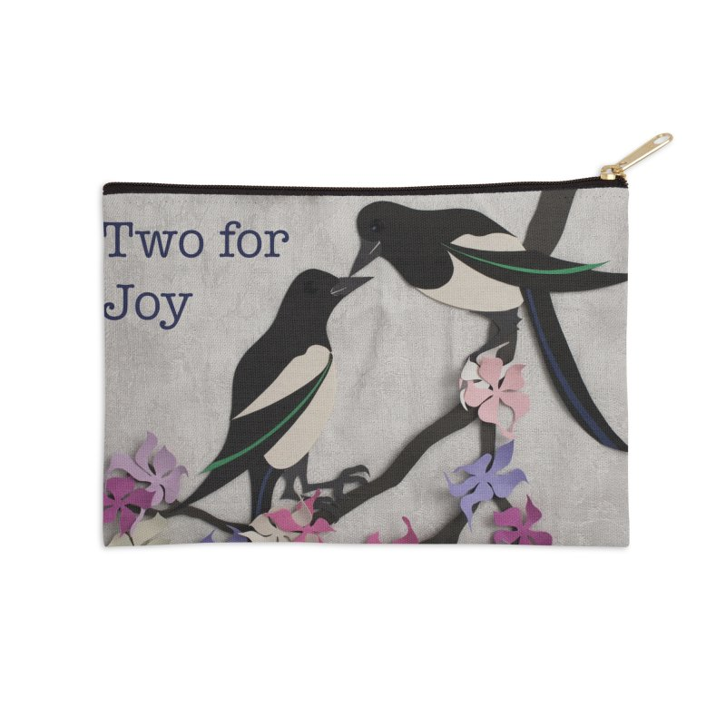 Two for Joy Accessories Zip Pouch by MagpieAtMidnight's Artist Shop