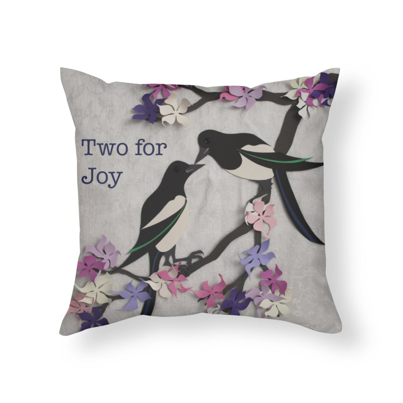 Two for Joy Home Throw Pillow by MagpieAtMidnight's Artist Shop