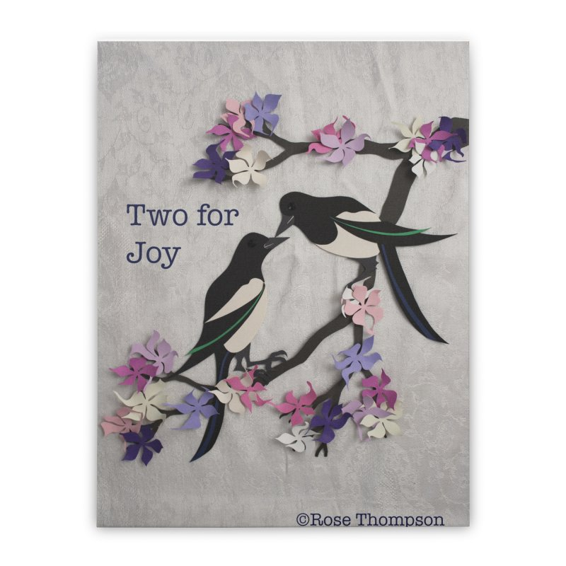 Two for Joy Home Stretched Canvas by MagpieAtMidnight's Artist Shop