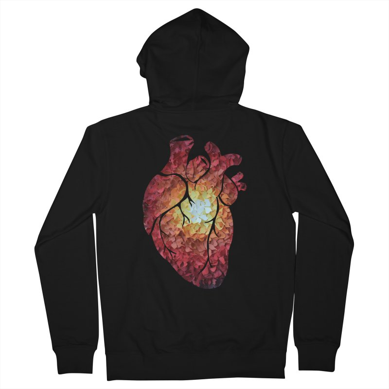 Sunshine on my heart Men's French Terry Zip-Up Hoody by MagpieAtMidnight's Artist Shop