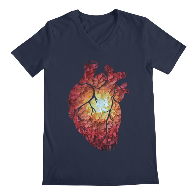 Sunshine on my heart Men's V-Neck by MagpieAtMidnight's Artist Shop