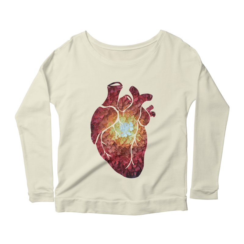 Sunshine on my heart Women's Longsleeve Scoopneck  by MagpieAtMidnight's Artist Shop