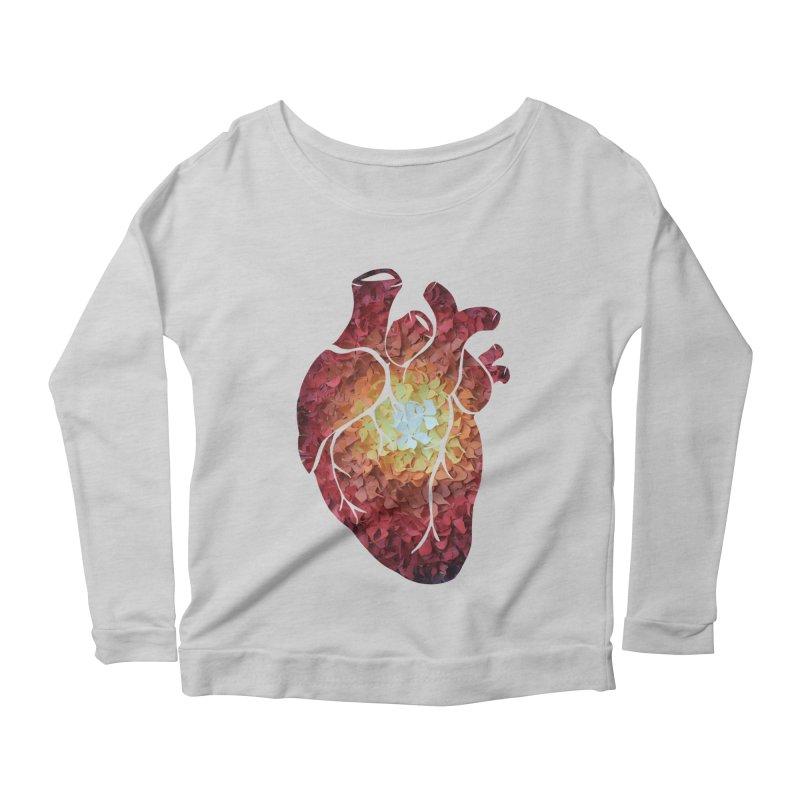 Sunshine on my heart Women's Scoop Neck Longsleeve T-Shirt by MagpieAtMidnight's Artist Shop