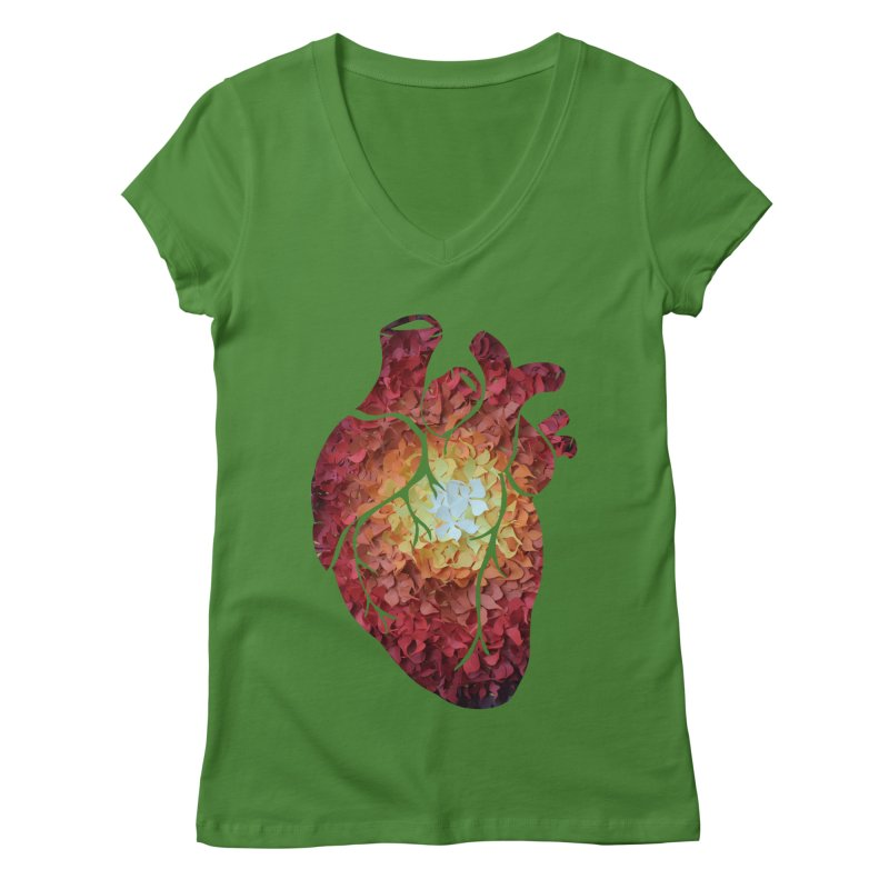 Sunshine on my heart Women's V-Neck by MagpieAtMidnight's Artist Shop