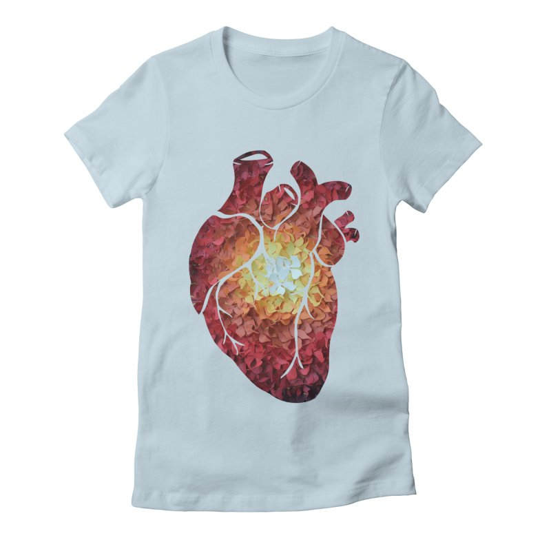 Sunshine on my heart Women's Fitted T-Shirt by MagpieAtMidnight's Artist Shop