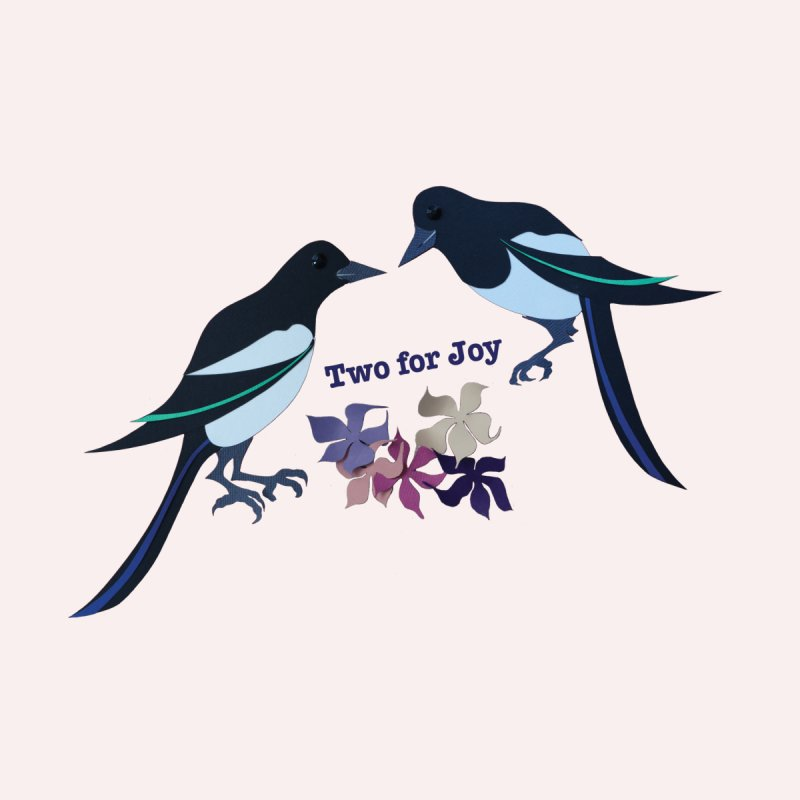 Two magpies Home Fine Art Print by MagpieAtMidnight's Artist Shop