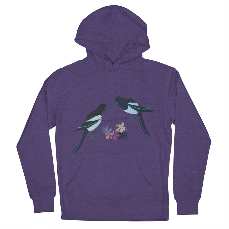 Two magpies Men's French Terry Pullover Hoody by MagpieAtMidnight's Artist Shop