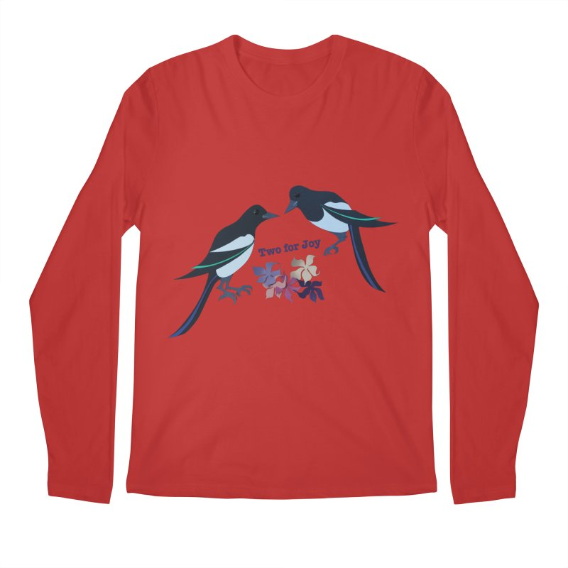 Two magpies Men's Regular Longsleeve T-Shirt by MagpieAtMidnight's Artist Shop