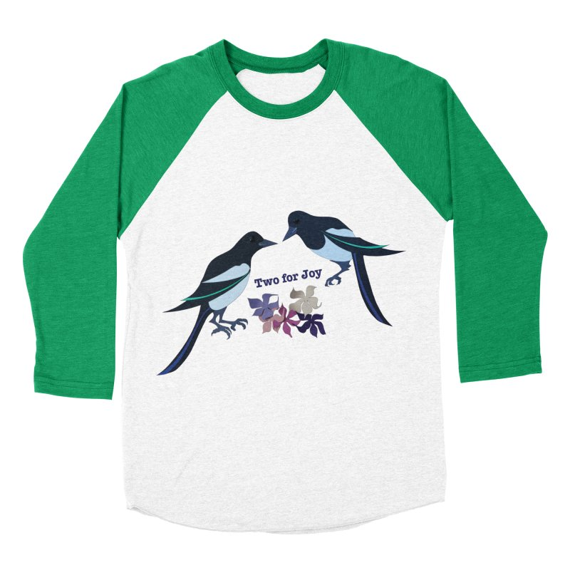 Two magpies Women's Baseball Triblend T-Shirt by MagpieAtMidnight's Artist Shop