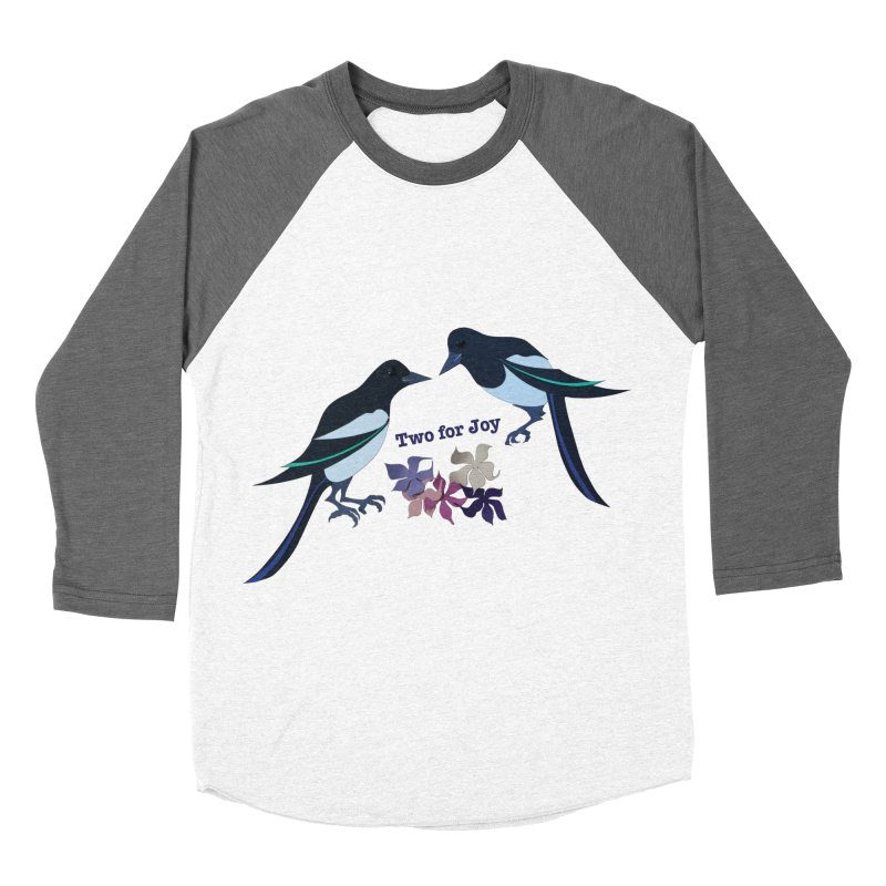 Two magpies Men's Baseball Triblend T-Shirt by MagpieAtMidnight's Artist Shop