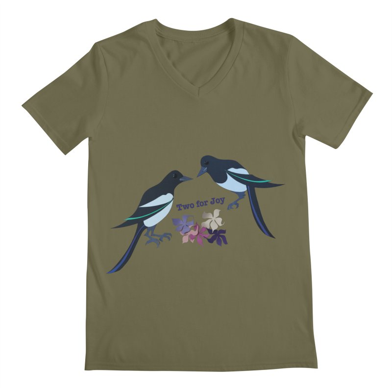 Two magpies Men's Regular V-Neck by MagpieAtMidnight's Artist Shop