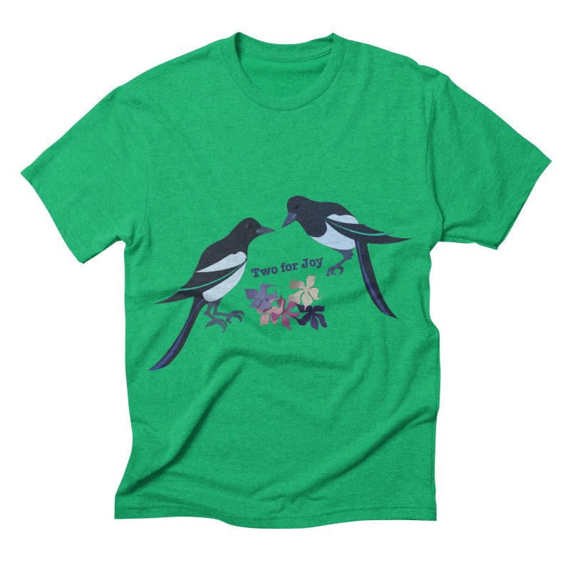 Two magpies Men's Triblend T-shirt by MagpieAtMidnight's Artist Shop