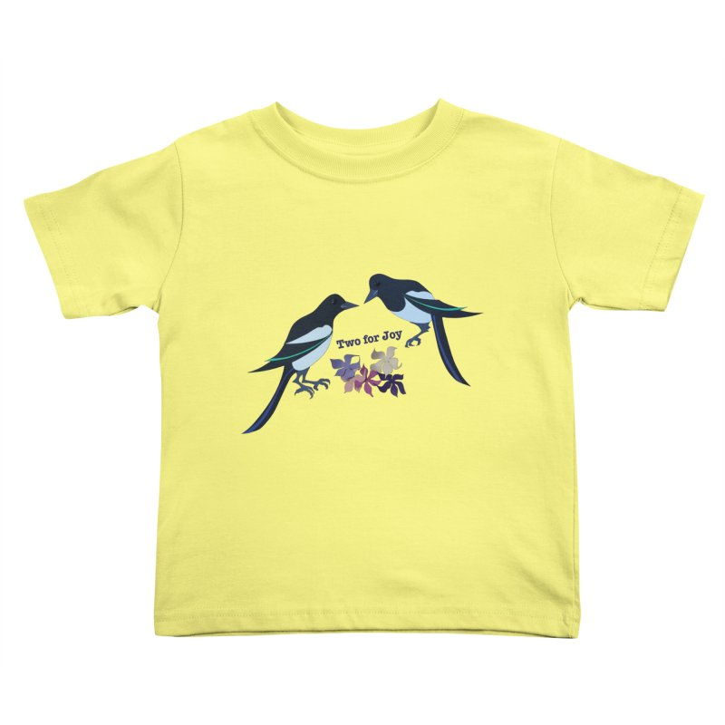 Two magpies Kids Toddler T-Shirt by MagpieAtMidnight's Artist Shop