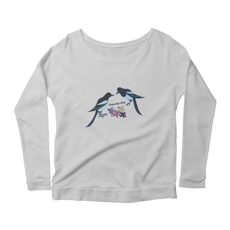 Two magpies Women's Longsleeve Scoopneck  by MagpieAtMidnight's Artist Shop