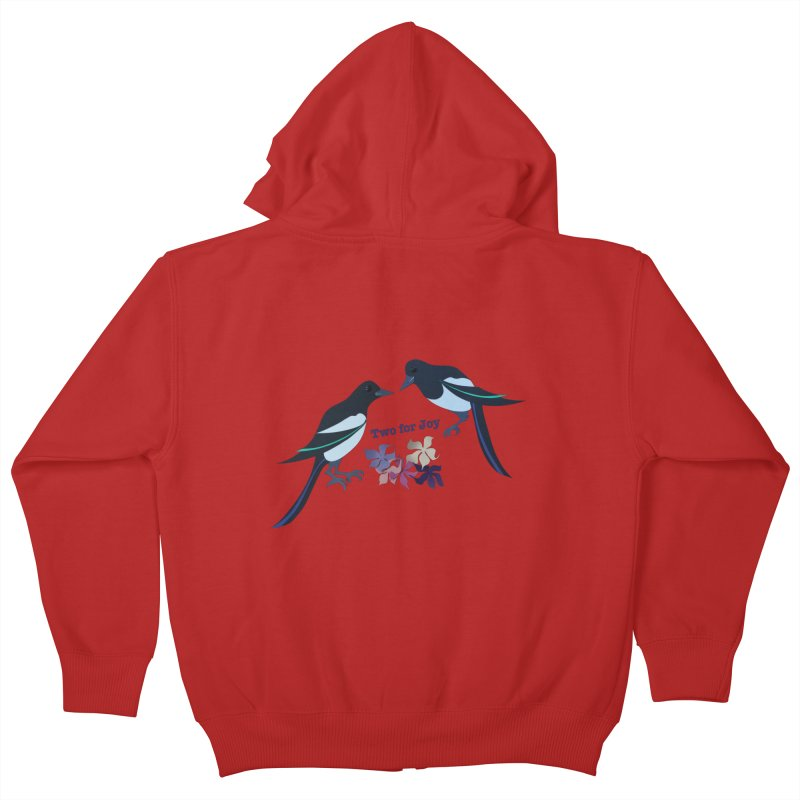 Two magpies Kids Zip-Up Hoody by MagpieAtMidnight's Artist Shop