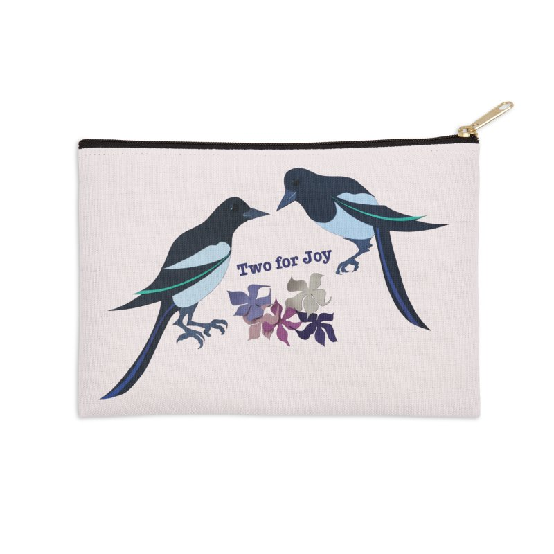 Two magpies Accessories Zip Pouch by MagpieAtMidnight's Artist Shop