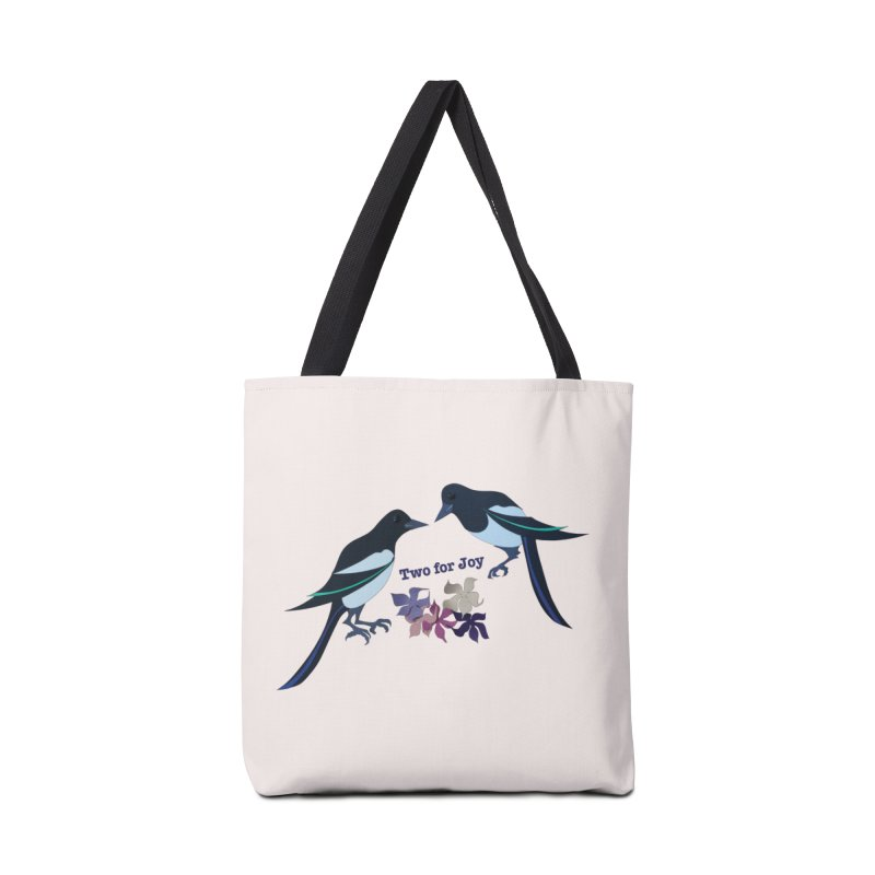 Two magpies Accessories Bag by MagpieAtMidnight's Artist Shop