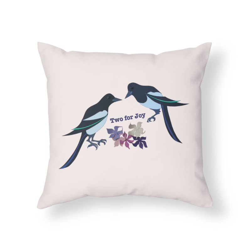 Two magpies Home Throw Pillow by MagpieAtMidnight's Artist Shop