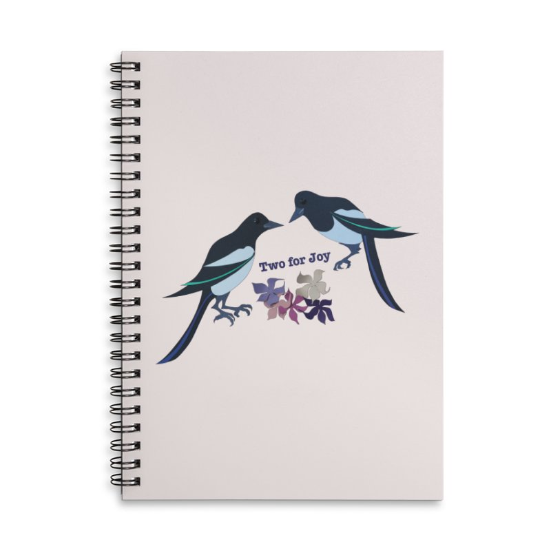 Two magpies Accessories Notebook by MagpieAtMidnight's Artist Shop
