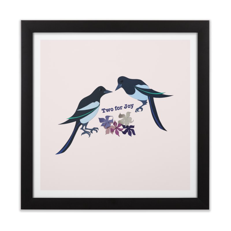 Two magpies Home Framed Fine Art Print by MagpieAtMidnight's Artist Shop
