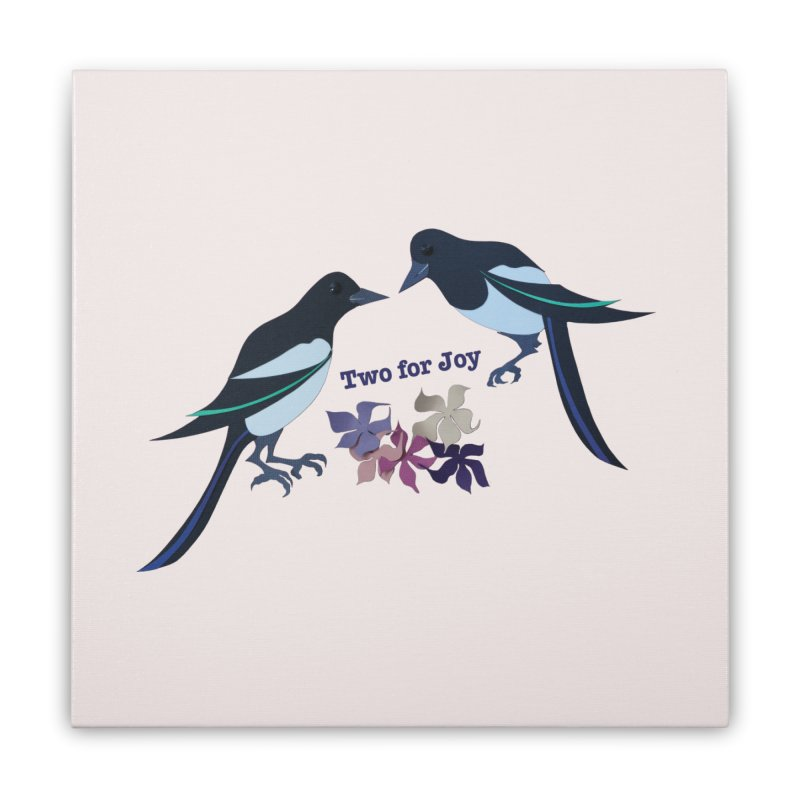 Two magpies Home Stretched Canvas by MagpieAtMidnight's Artist Shop