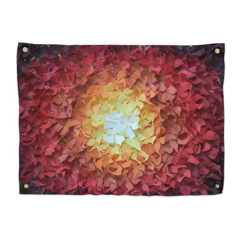 Red orange paper flowers Home Tapestry by MagpieAtMidnight's Artist Shop