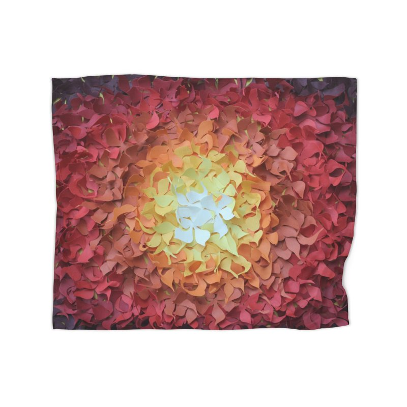 Red orange paper flowers Home Blanket by MagpieAtMidnight's Artist Shop