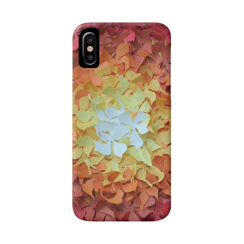 Red orange paper flowers Accessories Phone Case by MagpieAtMidnight's Artist Shop
