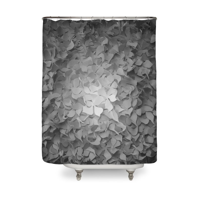 Black and while flower pattern Home Shower Curtain by MagpieAtMidnight's Artist Shop