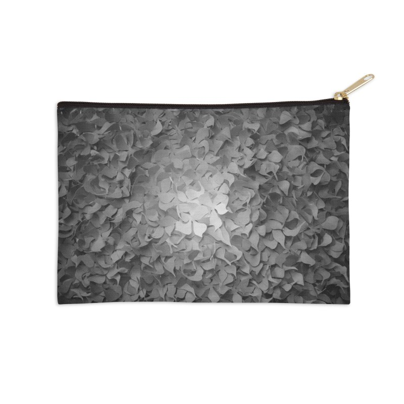 Black and while flower pattern Accessories Zip Pouch by MagpieAtMidnight's Artist Shop