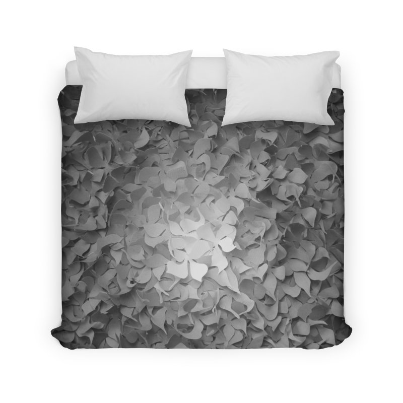 Black and while flower pattern Home Duvet by MagpieAtMidnight's Artist Shop