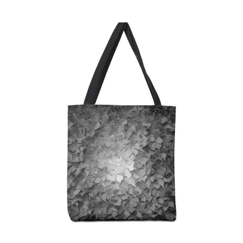 Black and while flower pattern Accessories Bag by MagpieAtMidnight's Artist Shop