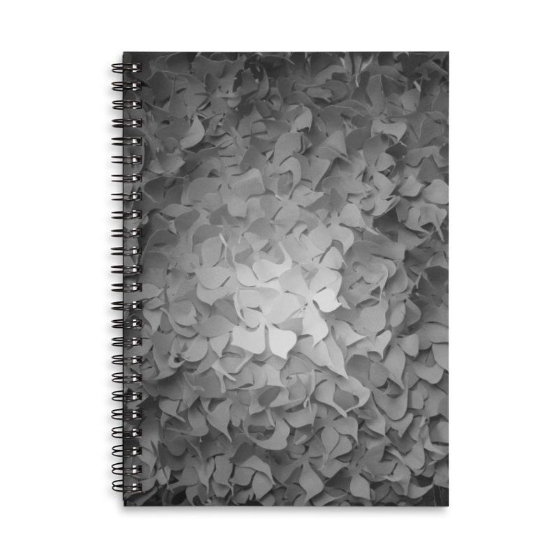 Black and while flower pattern Accessories Notebook by MagpieAtMidnight's Artist Shop