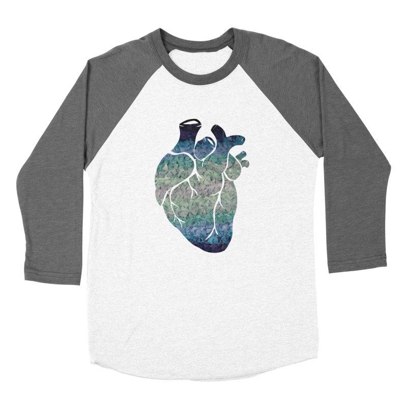 Blue flower heart Women's Longsleeve T-Shirt by MagpieAtMidnight's Artist Shop