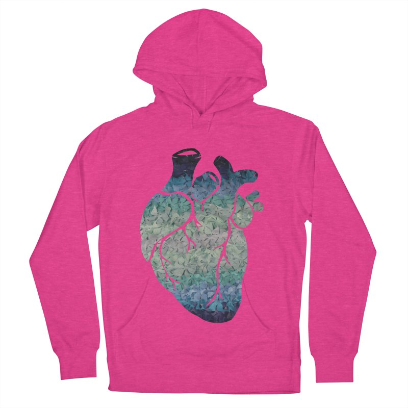 Blue flower heart Women's Pullover Hoody by MagpieAtMidnight's Artist Shop