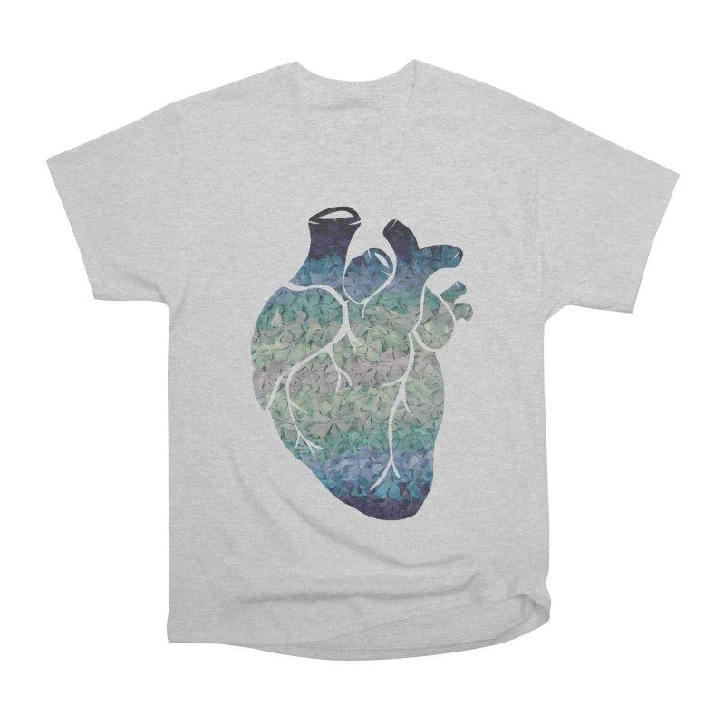Blue flower heart Women's Classic Unisex T-Shirt by MagpieAtMidnight's Artist Shop