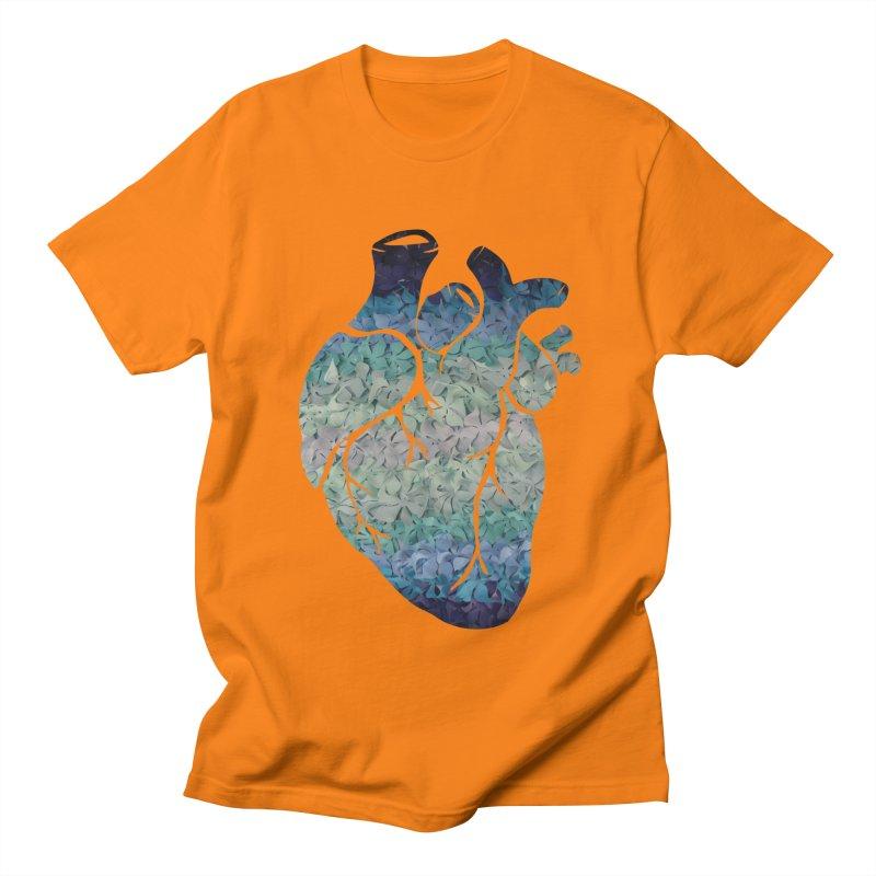 Blue flower heart Women's Unisex T-Shirt by MagpieAtMidnight's Artist Shop