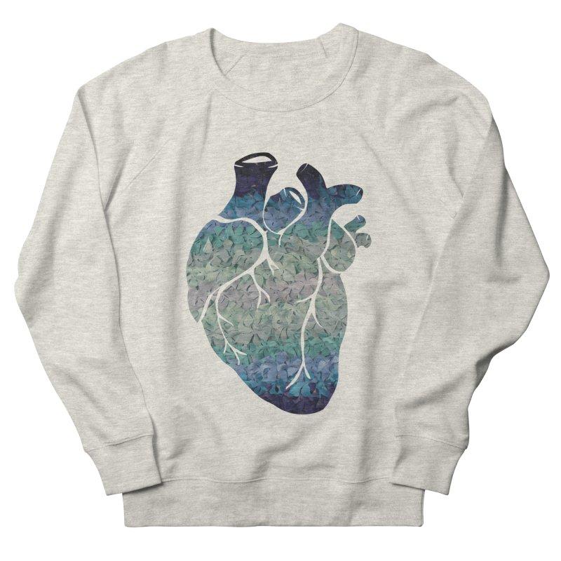 Blue flower heart Women's Sweatshirt by MagpieAtMidnight's Artist Shop