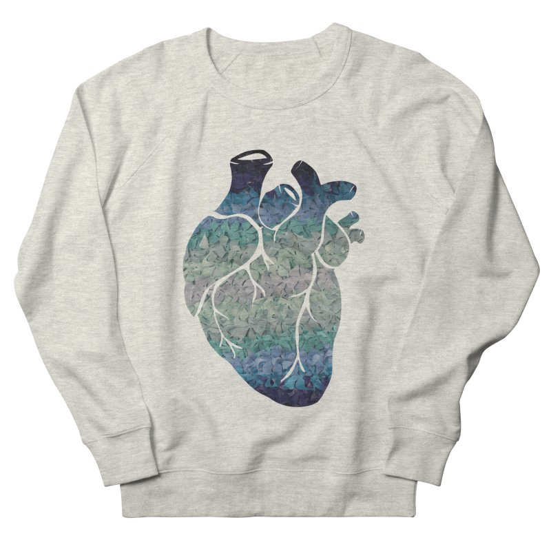 Blue flower heart Men's Sweatshirt by MagpieAtMidnight's Artist Shop