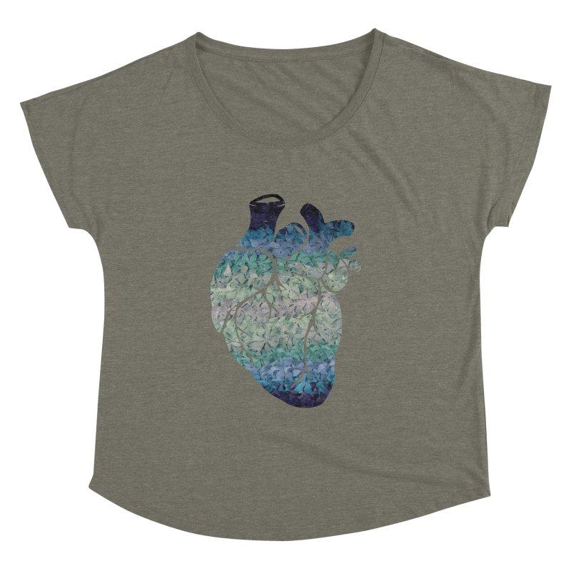 Blue flower heart Women's Dolman by MagpieAtMidnight's Artist Shop