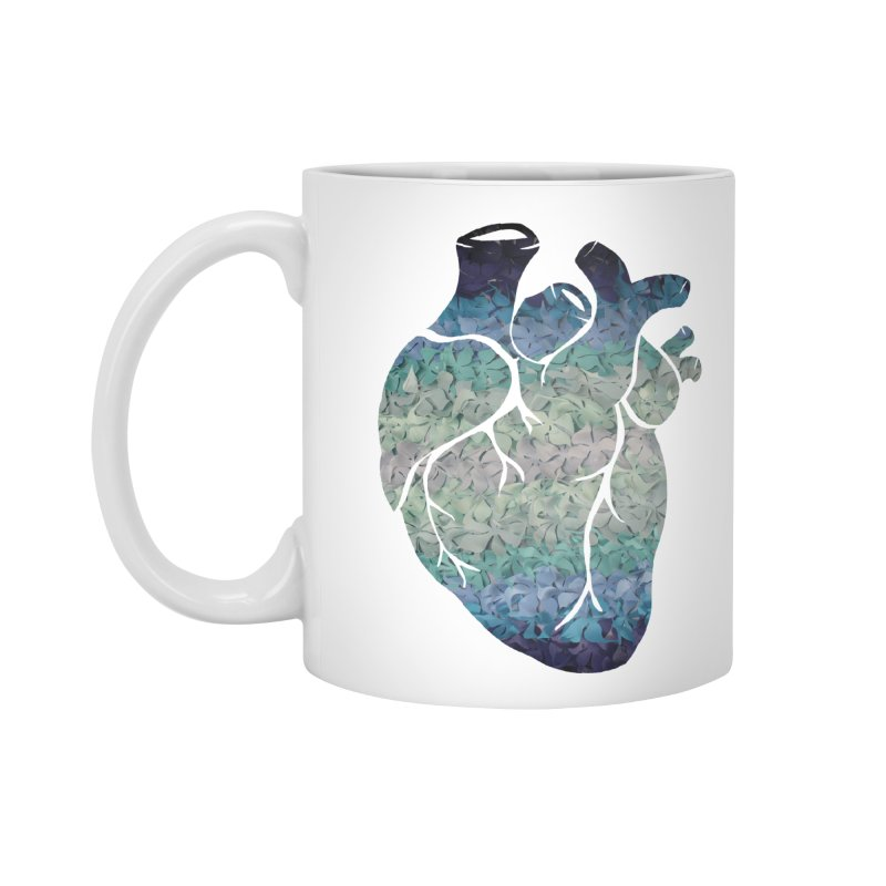 Blue flower heart Accessories Mug by MagpieAtMidnight's Artist Shop