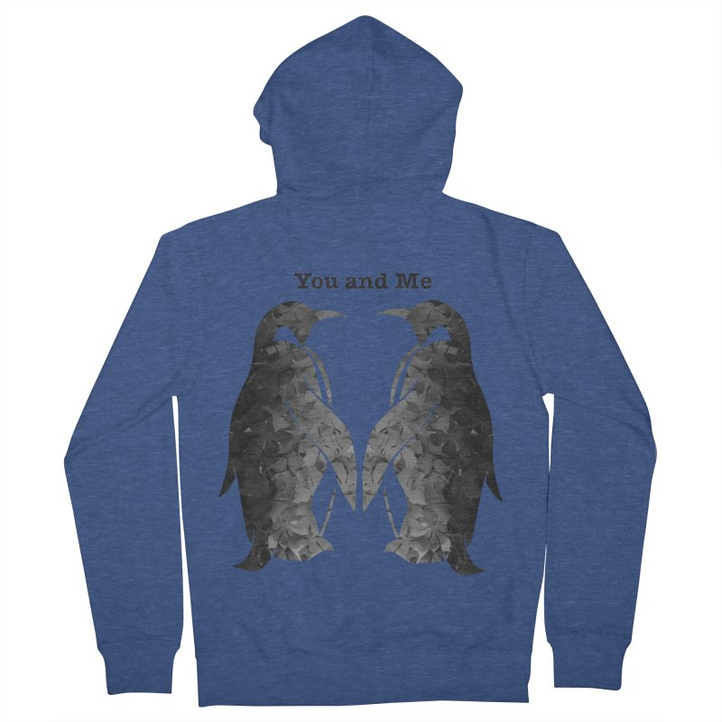 You and me Men's Zip-Up Hoody by MagpieAtMidnight's Artist Shop