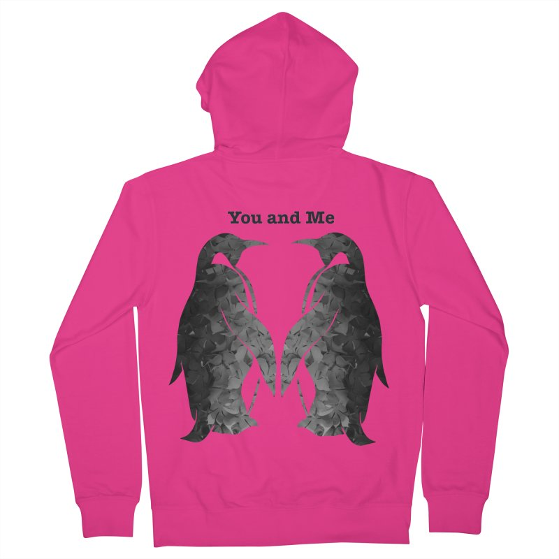 You and me Men's French Terry Zip-Up Hoody by MagpieAtMidnight's Artist Shop