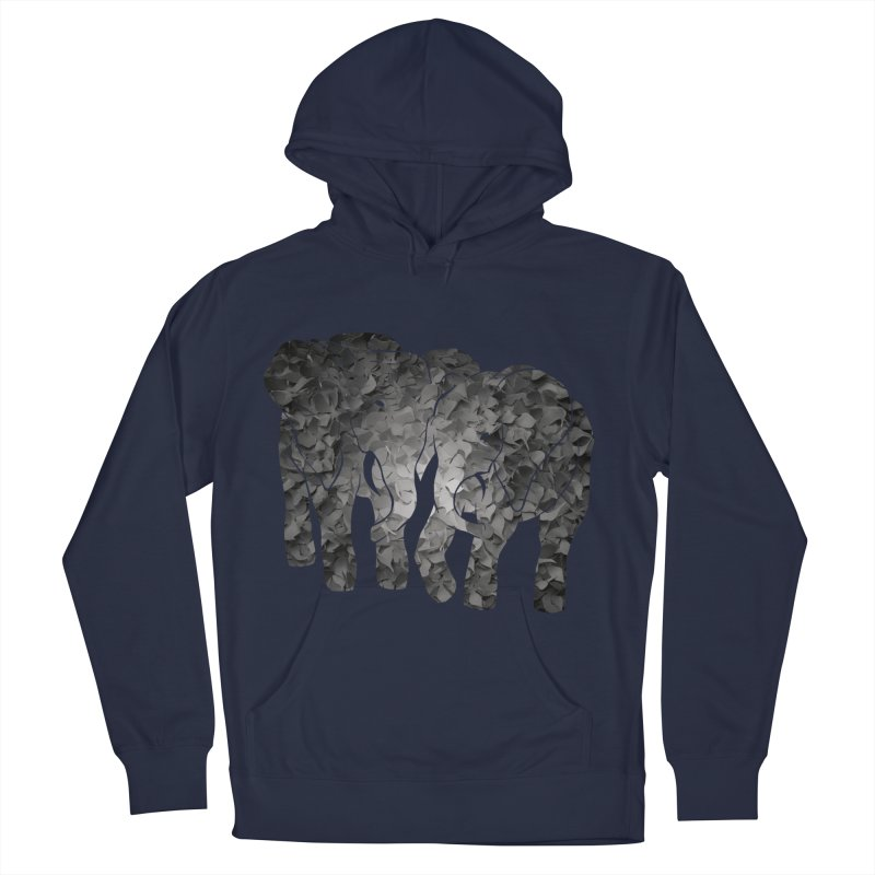 Two elephants Men's French Terry Pullover Hoody by MagpieAtMidnight's Artist Shop