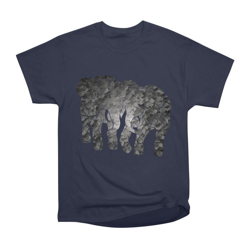 Two elephants Women's Heavyweight Unisex T-Shirt by MagpieAtMidnight's Artist Shop